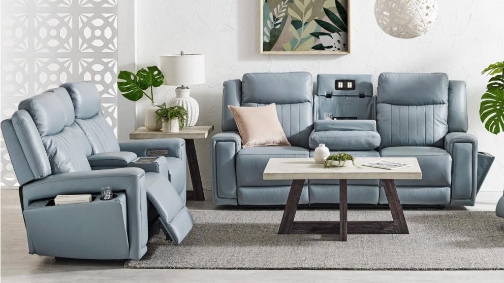 Jenolan Leather Powered Recliner Sofa