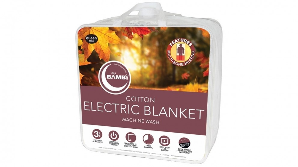 Bambi Cotton Electric Blanket - King Single