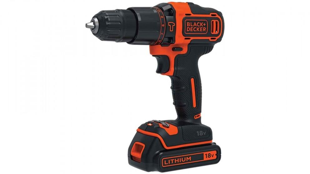 Black+Decker 18V 2 Speed Hammer Drill (2x1.5Ah)
