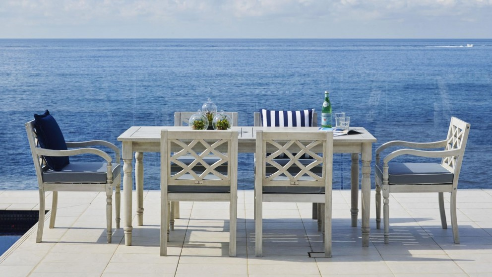 Buy Marie 7 Piece Outdoor Rectangular Dining Setting | Harvey Norman AU
