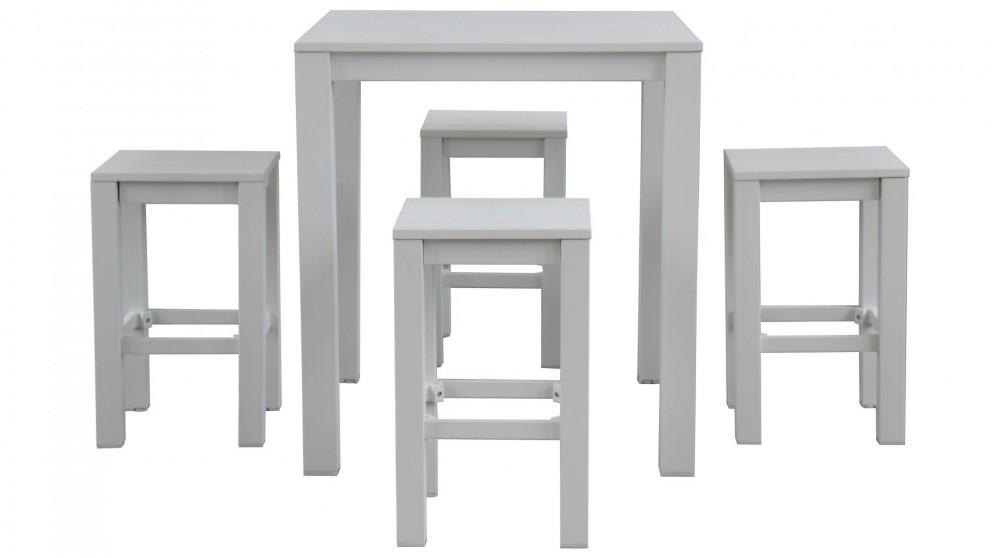 Buy quay 5 piece outdoor bar setting harvey norman au for Furniture quay