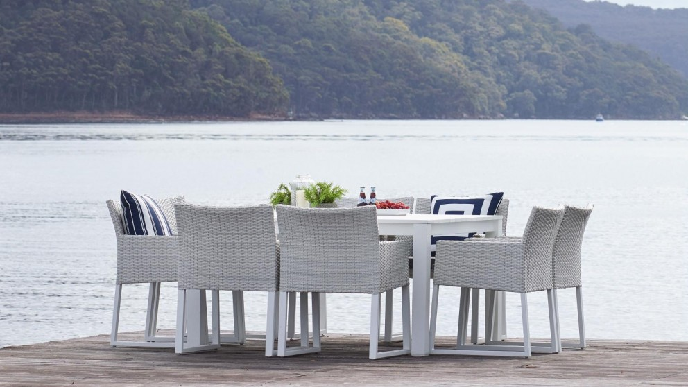 Quay Vertigo 9 Piece Square Outdoor Dining Setting Part 70