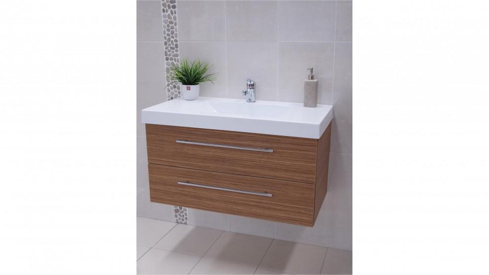 Vanity Bathroom Harvey Norman timberline paxton grand 900mm gloss white vanity - bathroom