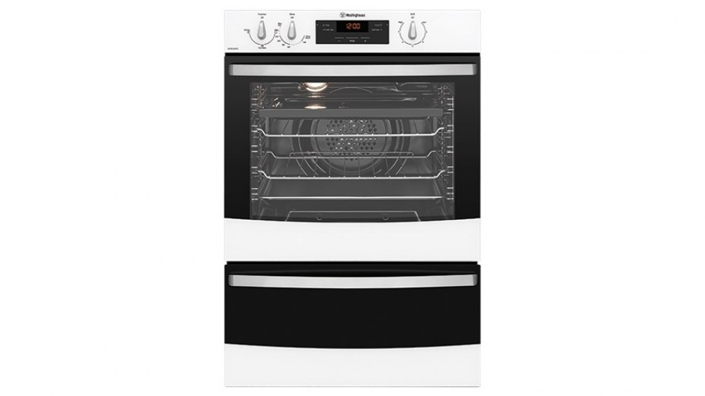 Westinghouse 600mm Fan Forced LPG Separate Grill Wall Oven - White