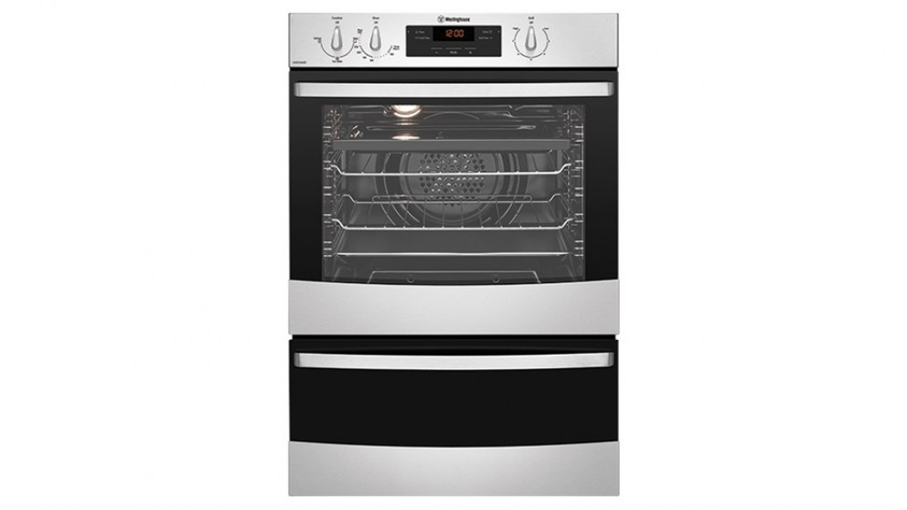 Westinghouse 600mm Fan Forced Natural Gas Separate Grill Wall Oven - Stainless Steel