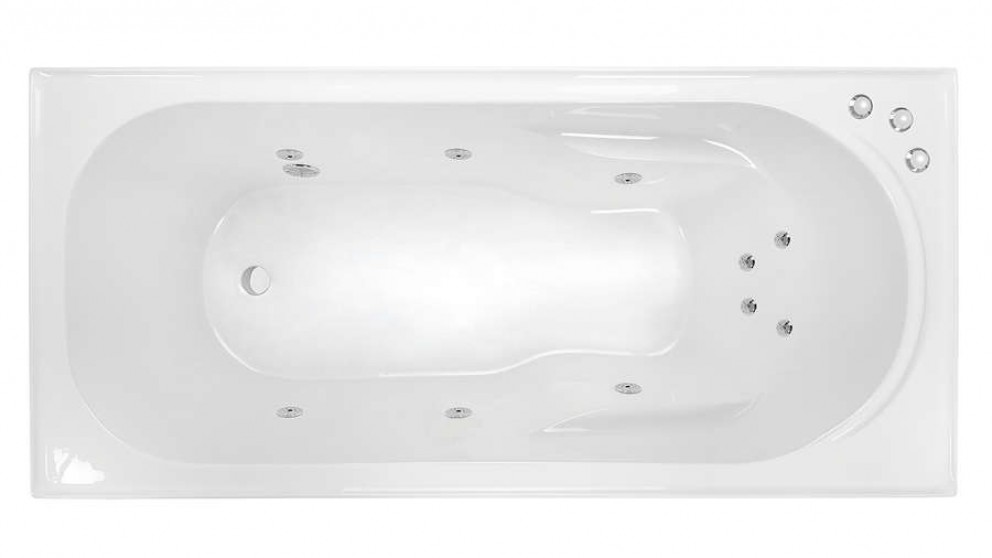 Decina Prato 1510mm Santai 10 Jet Smooth Base Spa Bath