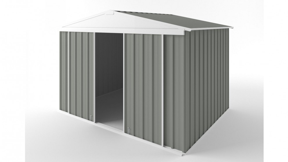 EasyShed D3023 Gable Slider Roof Garden Shed - Bush Smoke