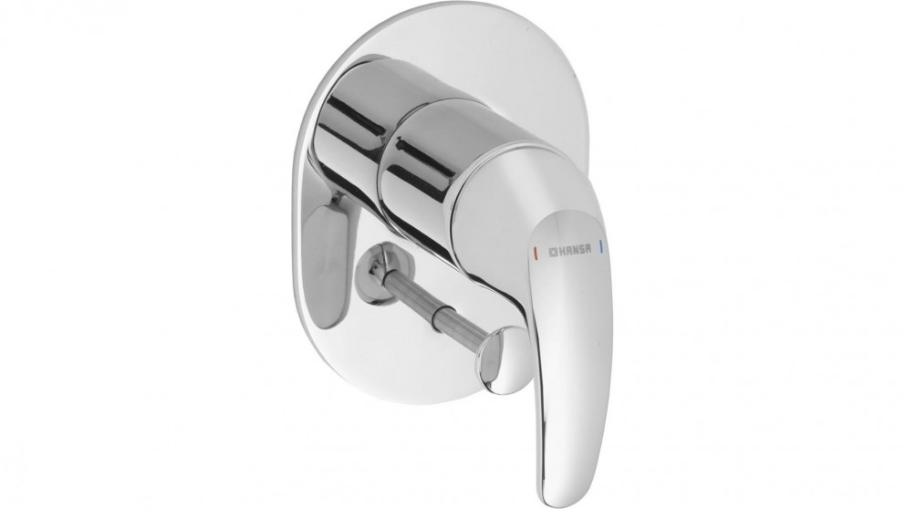 Hansa Pico Oval Shower or Bath Mixer with Diverter with In Wall Body