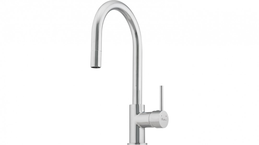 Oliveri Essentials Pull Out Goose Neck Mixer - Taps - Sinks & Taps ...