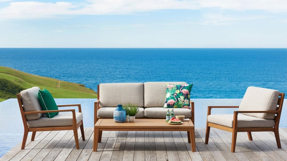 Louie 4 Piece Outdoor Lounge Setting