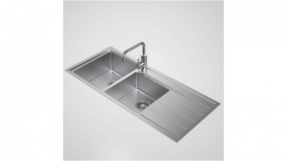 Caroma Compass 1.75 Left Hand Bowl Sink with 1 Tap Hole