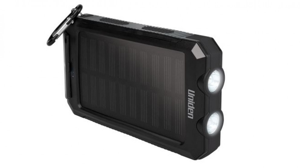 Uniden 8000mAh Solar Powerbank - Black