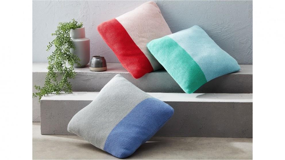 Dimity Blush/Crimson Cushion