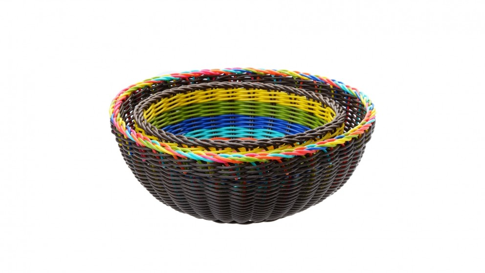 Neoflam Round Poly-Wicker Basket 2 Piece Set 220mm/280mm - Multi