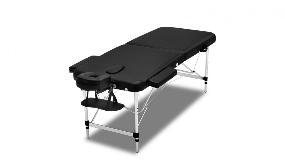 Zenses Portable Aluminium 2 Fold Massage Table - Black