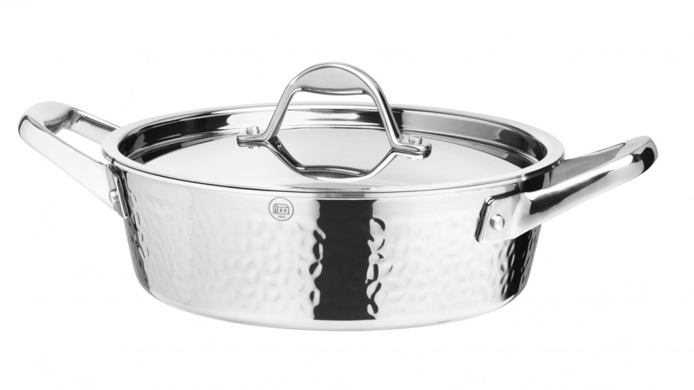 Stern Tri-ply 24x8cm Low Casserole with Stainless Steel Lid 2.5L