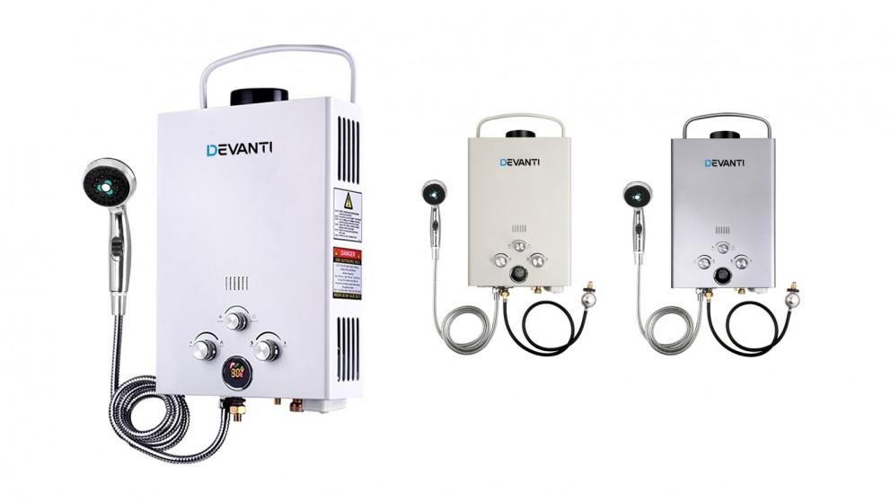 Devanti Portable LPG Gas Shower Heater Head 12V Water Pump