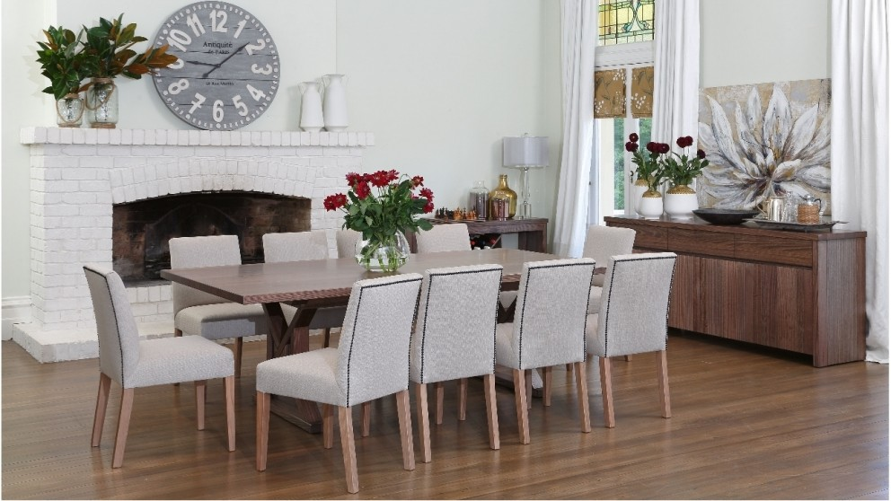 Buy lombardozzi dining table harvey norman au for Dining room tables harvey norman