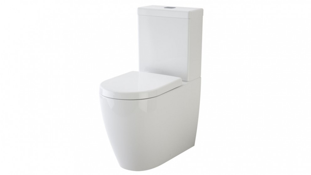 Caroma Urbane Cleanflush Back Entry Wall-Faced Toilet Suite with Arc Soft Close Seat