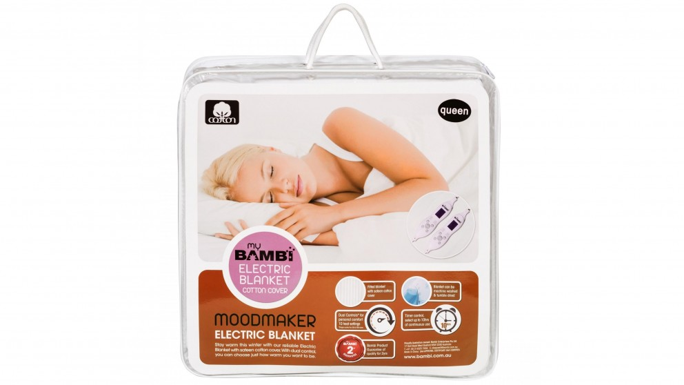 Bambi Moodmaker Cotton Cover Electric Blanket - Double
