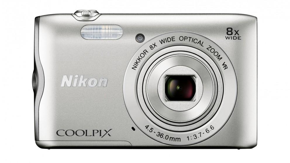 Nikon Coolpix A300 Digital Camera - Silver