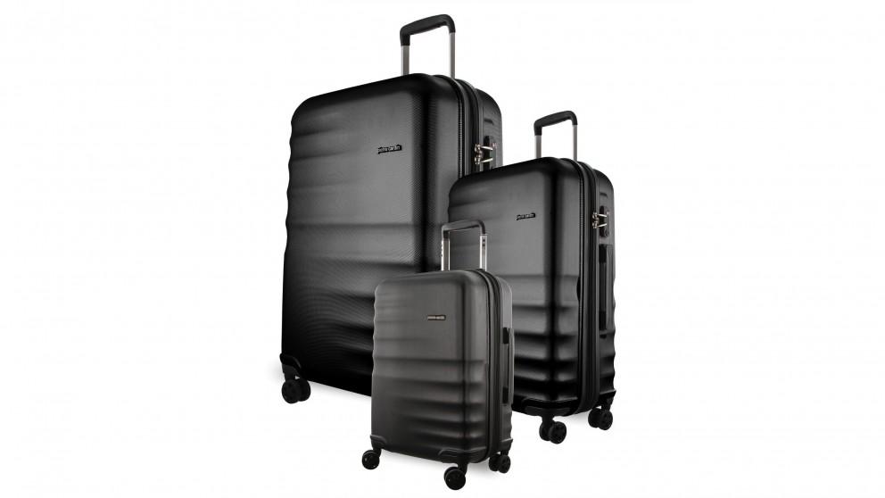 Pierre Cardin Hard Shell 3-Piece Luggage Set - Black