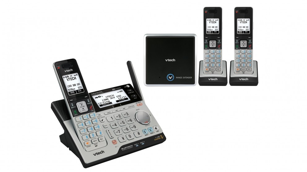 VTech 15850 Long Range DECT360 Cordless Phone Triple Pack + Range Extender
