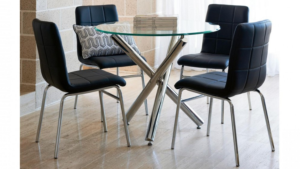 Buy lily 5 piece round dining suite harvey norman au for Dining room tables harvey norman