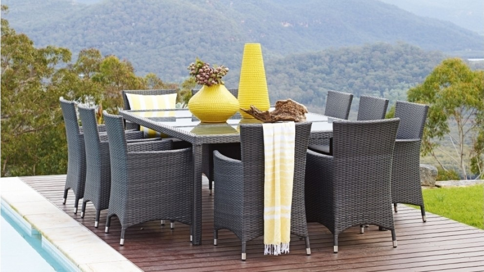 Newport 11 Piece Outdoor Rectangular Dining Setting Part 40