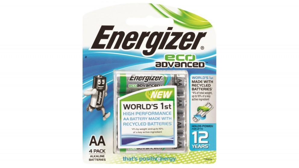 Energizer Eco Advanced AAA Batteries - 4 Pack