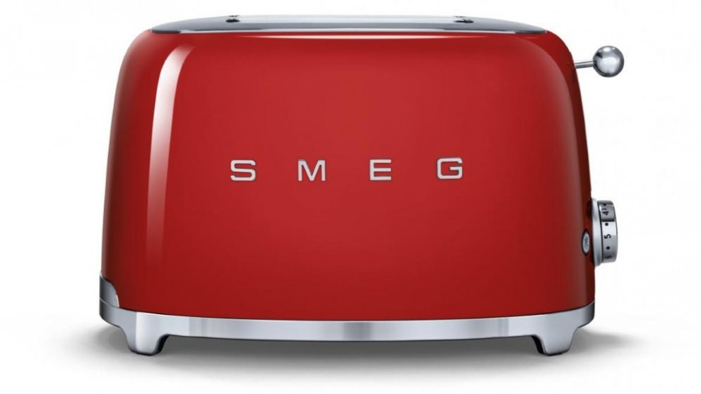 Smeg 50's Style Series 2 Slice Toaster - Red
