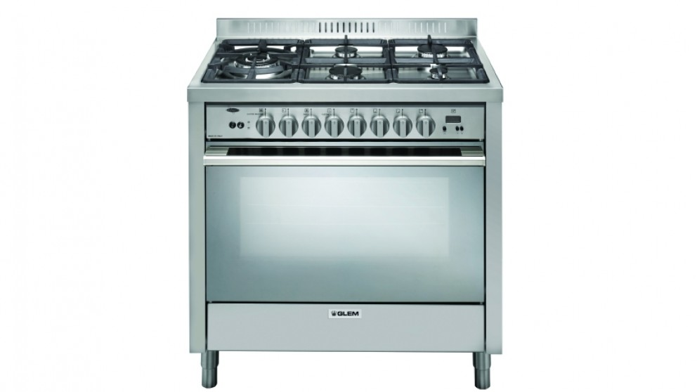 Glem 900mm Freestanding Bi-Energy Cooker - Stainless Steel