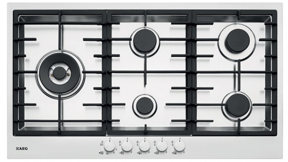 AEG 900mm 5 Burner Gas Cooktop - Stainless Steel