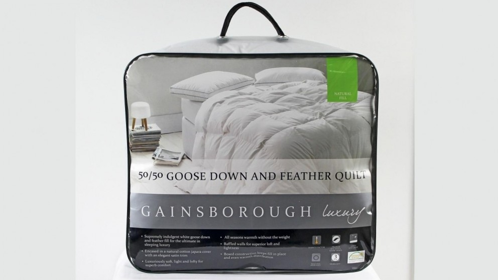 Gainsborough All Seasons 50/50 Goose Down and Feather Quilt