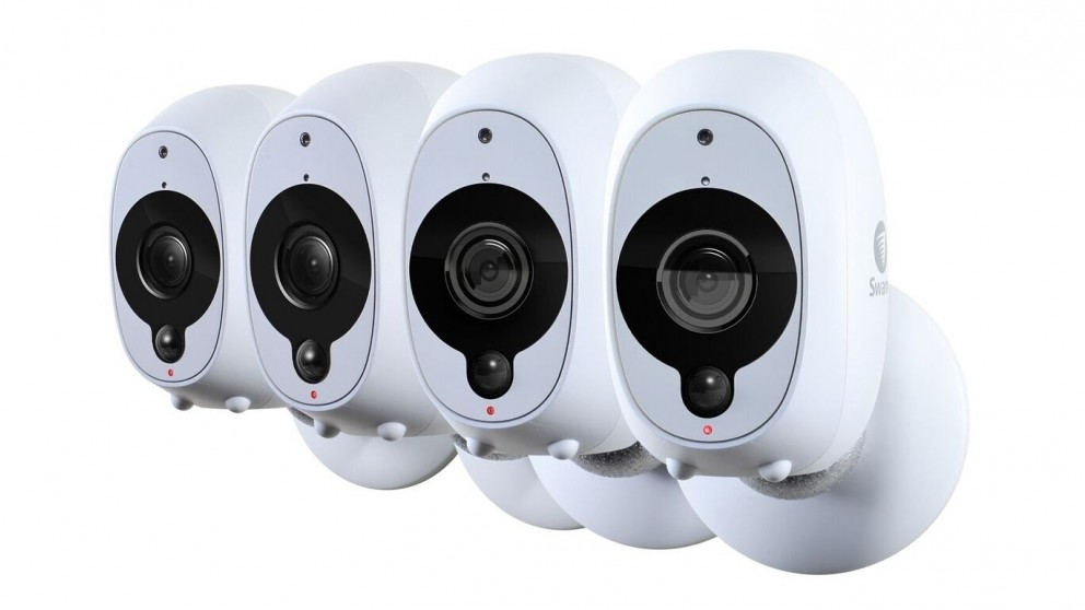 Swann SWWHD-INTCAMPK4-AU Smart Full HD Wireless Security Cameras - 4 Pack