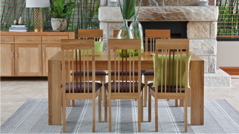 Buy saratoga 7 piece rectangular dining suite harvey for Dining room tables harvey norman