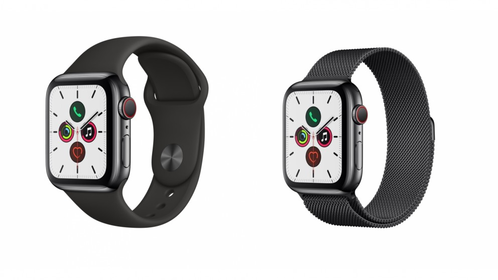 Apple Watch Series 5 Space Black Stainless Steel Case