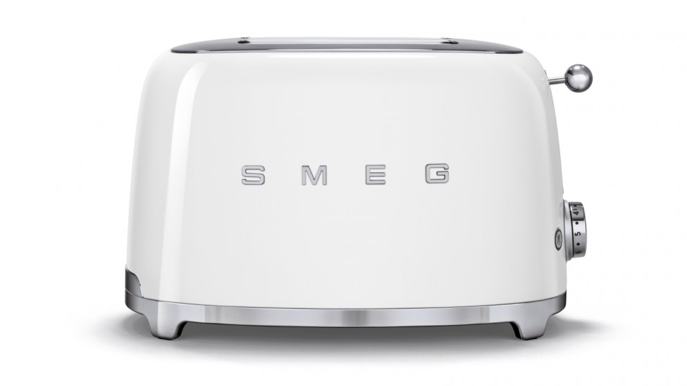 buy smeg 50s style series 2 slice toaster white harvey