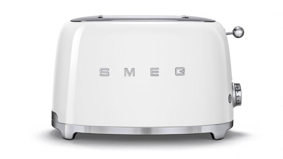 Smeg 50s Style Series 2 Slice Toaster - White