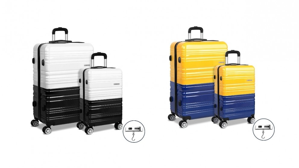 Wanderlite 2 Pieces Luggage Trolley Set