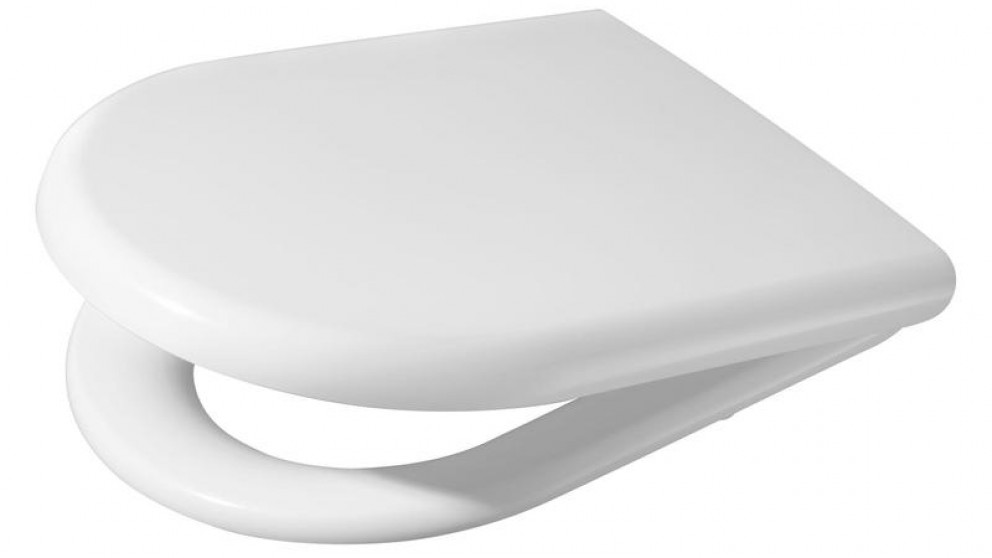 Metro Soft Close Wall Faced Toilet Seat - White