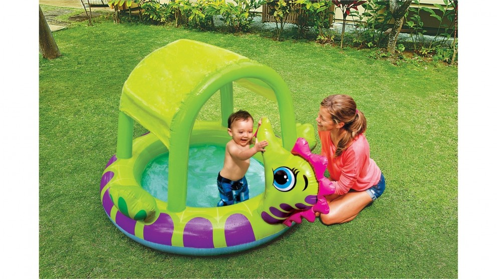 Intex inflatable swimming pool kids toddler baby paddle for Baby garden pool