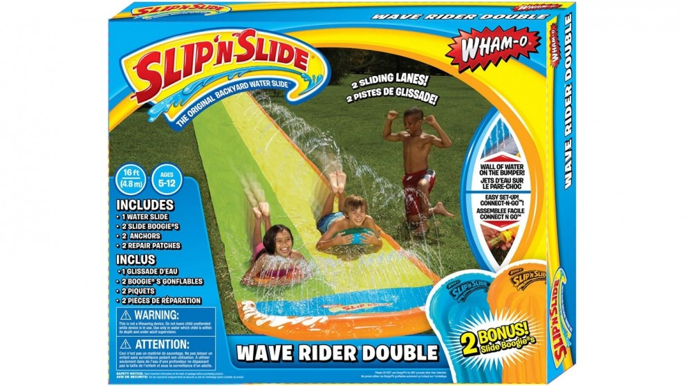 Wham-O Slip N Slide Wave Rider Double with Bonus Boogie Board