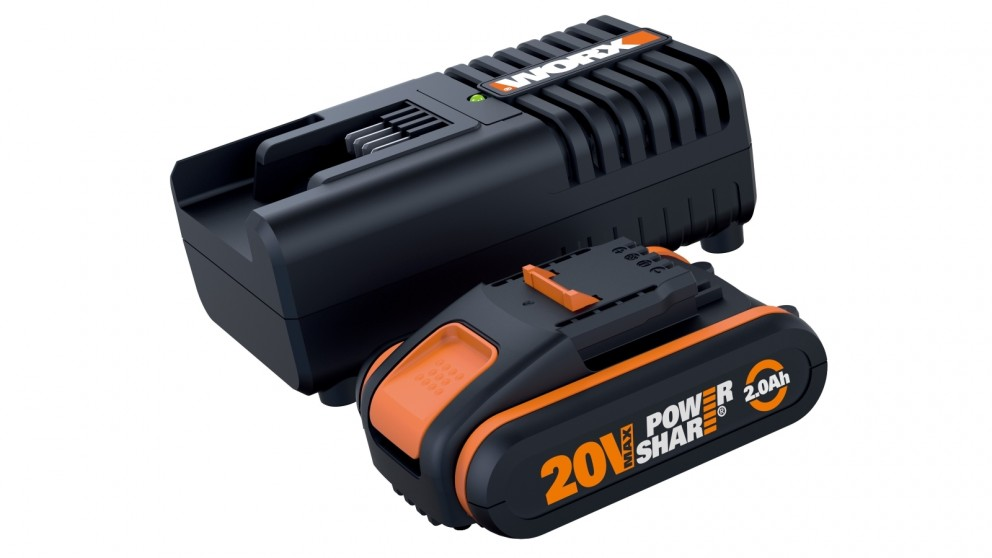 Worx WA3601 20V Lithium-ion Battery and Charger