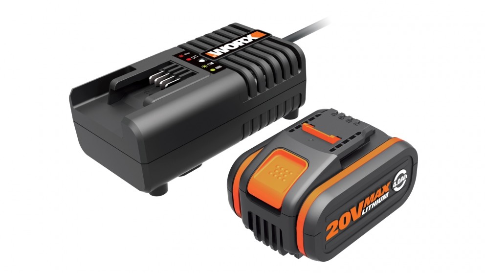 Worx WA3604 20V Lithium-ion Battery and Charger