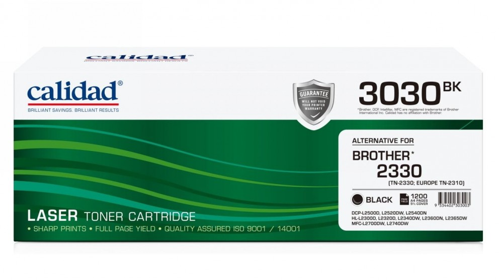 Calidad Brother TN-2330 Ink Cartridge - Black