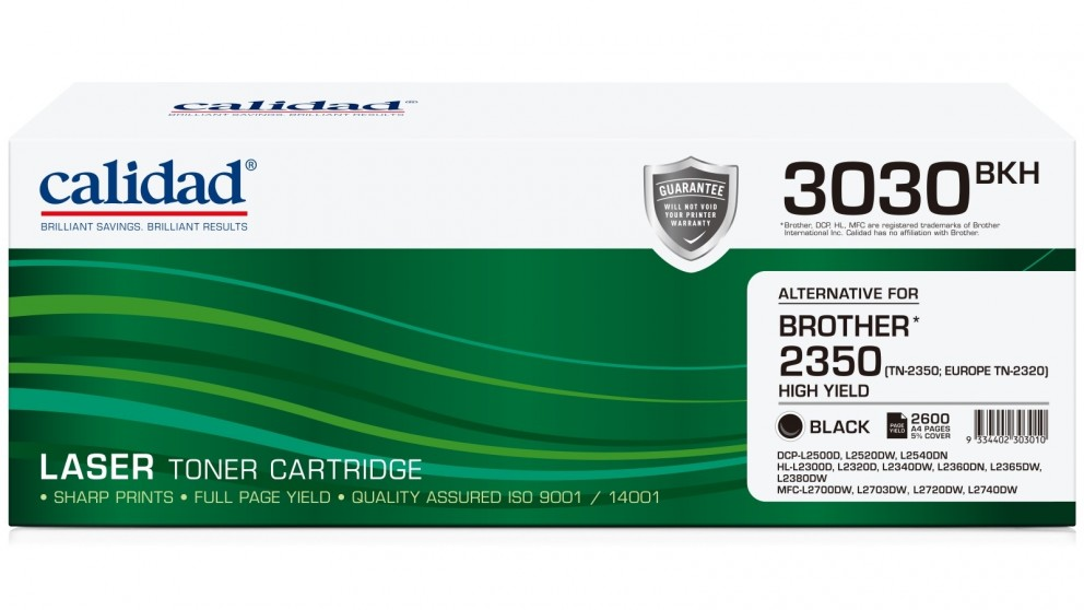 Calidad Brother TN-2350 Ink Cartridge - Black