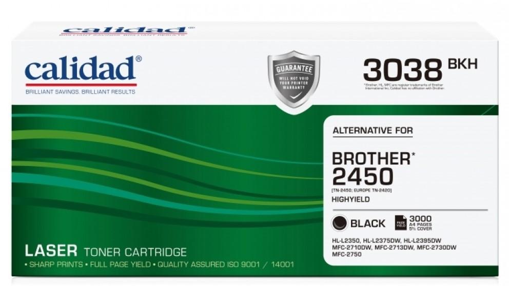Calidad Brother TN-2450 High Yield Black Toner Cartridge