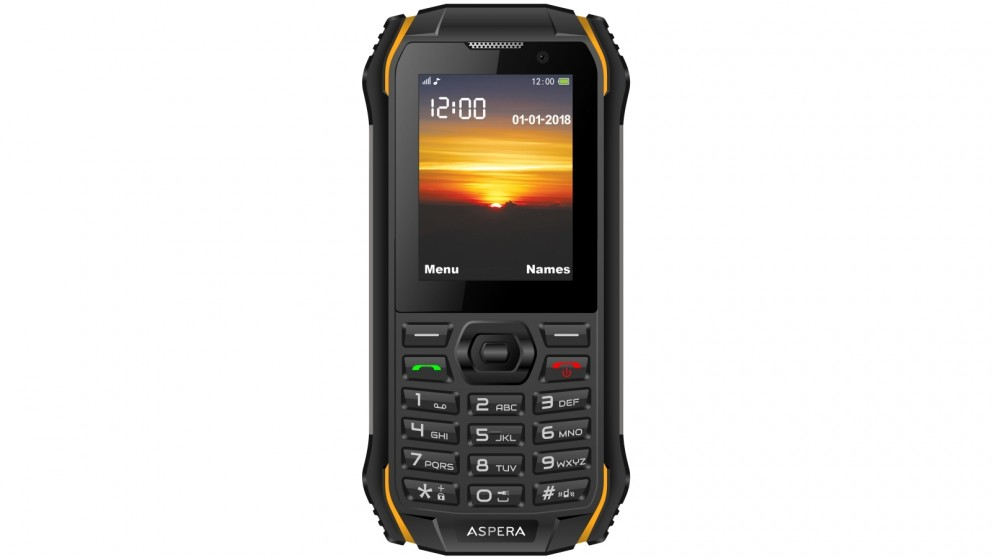 Aspera R32 3G Rugged Mobile Phone - Black