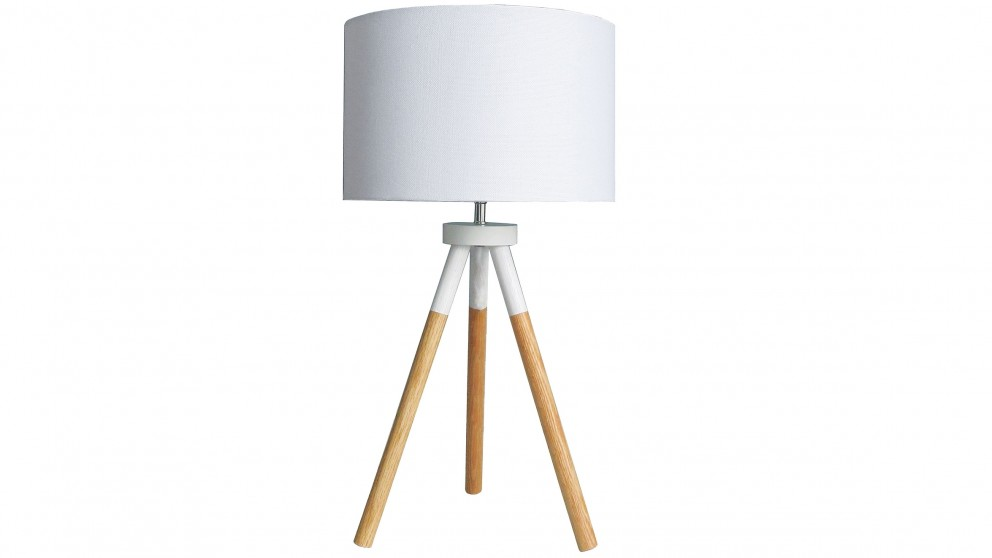 Buy apostle white bedside lamp harvey norman au for Lamp table harvey norman